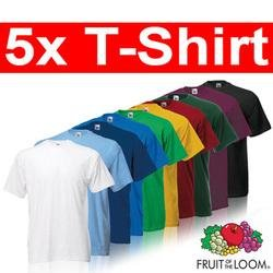 5x Fruit of the Loom Heavy Cotton T-Shirts für 11,11€ frei Haus beim Dealclub