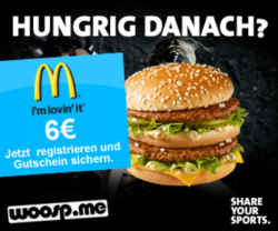 6€ Gutschein von McDonalds für kostenlose Registrierung bei woosp.me