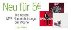 amazon MP3-Neuheiten der Woche für 5 EUR