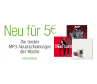 amazon MP3-Neuheiten der Woche für 5 EUR (von Freitag bis Sonntag)