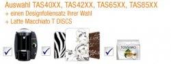 Amazon TASSIMO-Aktion: z.B. Bosch TAS4014 + 16 Portionen Latte Macchiato + Designfolie für nur 55€