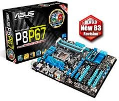 ASUS P8P67 Rev. 3.0 ATX, Sockel 1155, Intel P67 Chipsatz, DDR3-1600 , USB 2.0, USB 3.0, SATAII, SATAIII nur 80,80 + ggf. Versand bei Arlt