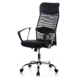 Chefsessel Design-Bürostuhl mit verchromten Fußkreuz und Wippmechanik für 57,90 Euro, versandkostenfrei