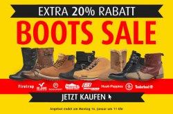 Boots Sale – mit 20% Extra-Rabatt auf Winterboots wie Timberland, Hilfiger, Diesel… bei mandmdirekt