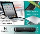 [DailyDeal] Logitech Keyboard Case + Tablet Speaker für das iPad2 – nur 69€ inkl. Versand