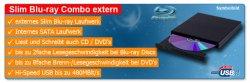 externer Slim Blu-ray-DVD Brenner über USB für nur 53,90 € inkl. Versand bei eBay