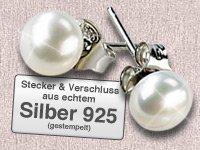 Gratis Valentinsgeschenk von Pearl Ohrstecker, 925 Sterling Silber mit Süßwasser-Zuchtperle (Versandkosten: 4,95€)