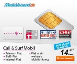 Special Call & Surf Mobil Tarif für effektiv 14,95 € mtl. (SMS-Flat, Internet-Flat, T-Mobile-Flat, Fremdflat) – Text lesen!