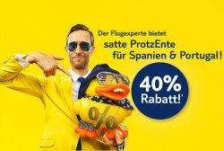Tuifly Flüge nach Spanien und Portugal mit 40% Rabatt für Reisezeitraum April bis Oktober 2012. Buchbar nur bis 17.01.2012