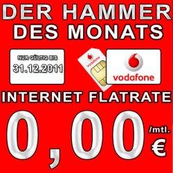 Vodafone Superflat Internet komplett kostelos Surf Flatrate + WE Flat (0€ anstatt 25€) via ebay