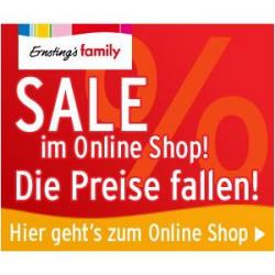 Wintersale bei Ernstings Family: TSCHÜSS VERKAUF vom 20.-29. Januar