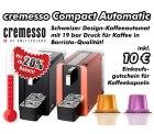 20% Rabatt auf cremesso Compact Automatic: Schweizer Design-Kaffeeautomat mit 19 bar Druck für Kaffee in Barrista-Qualität bei rabattbarometer