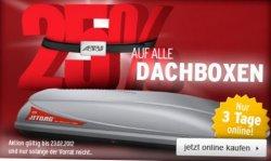25% auf Auto–Dachboxen UND 19% auf alle Reifen bei atu.de