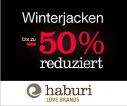 50% Winterjacken-Sale bei haburi.de im men / women shop