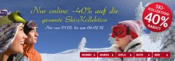 C & A – 40% Rabatt auf die gesamte Skikollektion nur online und nur bis 06.02.12