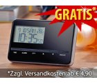 Gratis Ultraflacher Reise-Funkwecker mit Weltzeit & Thermometer bei pearl