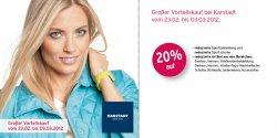 """Großer Vorteilskauf im Karstadt Online Shop mit bis zu 20% Rabatt mit Kennwort """"februar-prozente2012"""""""