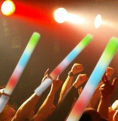 LED Schaumstoff Stab Stick 48cm für 1,59€ / Stck.
