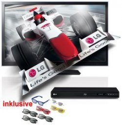 LG Set aus: LED-TV 42LW4500+Blu-ray-Player BD660 + 7x3D-Brillen für 640,55 € bei Neckermann