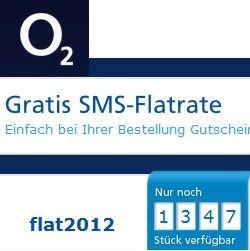 Nur für kurze Zeit: SMS-Flat gratis beo o2 + Anschlusspreis entfällt