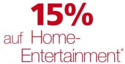 """NUR HEUTE: 15% Gutschein mit Code """"Media126"""" auf Home-Entertainment bei Neckermann.de"""