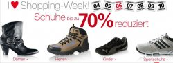 Nur noch heute bei Neckermann – Schuhe (auch Turnschuhe) mit bis zu 70 % Rabatt