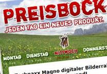 Liveshop Preisbock sucht neue Alm