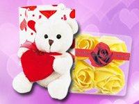 Schmusebär & Rosenblütenseifen gratis zum Valentinstag von pearl