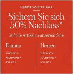 Tommy Hilfiger Store – 50 % Rabatt auf jeden Artikel im Sale Bereich