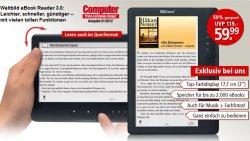 TrekStor eBook Reader 3.0 nur 59.99 EUR statt 119.- EUR bei Weltbild