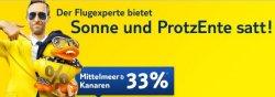 Tuifly – nur bis 28.02.2012 buchbar- 33% Rabatt auf Flüge zum Mittelmeer / Kanaren