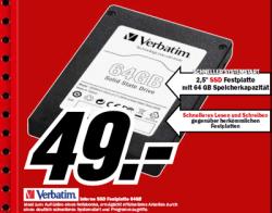 [Lokaler Deal] Verbatim 64GB SSD für 49€ im Media Markt Geschäft