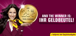 Wieder verfügbar – Germanwings Nur bis Sonntag 1 Million Schnäppchenflüge! ab 29.99€ inkl. Meilen