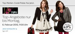 Yumi FASHIONExclusives-Aktion vom 2.2. bis 6.2.2012 bei eBay
