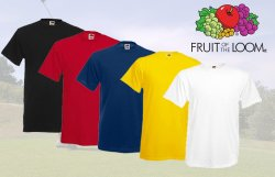 12er Pack Fruit of the Loom T-Shirts – verschiedene Farben – nur 22,22 € bei QypeDeals versandkostenfrei