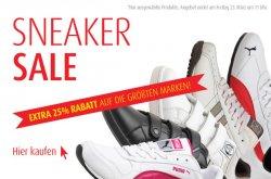 25% Rabatt auf Sneaker Modelle (Puma, Adidas, Reebok) bei MandM Direct