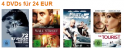 4 Blu-rays für 30 EUR bei Amazon – Kaufe 4 Blu-rays, zahle aber nur 30 Euro bzw. 4 DVDs für 24 Euro