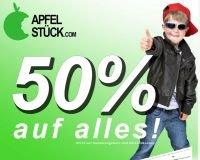50% Rabatt auf alles bei Apfelstück.com (außer Sonderangebote u. VSK)