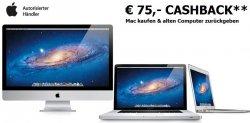 @Alternate.de: Apple-Cashbackaktion, Apple kaufen, alten Computer einschicken, 75 Euro kassieren