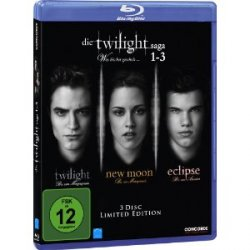 Amazon: Twilight Saga 1-3 [Blu-ray] [Limited Edition] nur 17,99 €