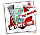 Apple iPhone 4 für 0€ mit Vodafone Superflat Wochenende Vertrag nur 14,95€ GG via ebay