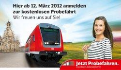 Bahn Probefahren in Thüringen / Sachsen / Sachsen-Anhalt (kostenlos)