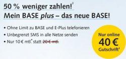 Base.de: Nur kurze Zeit 40 Euro geschenkt – nur Online!