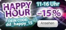 Bis 16 Uhr: 15 % Rabatt bei Dailydeal (z.B. 16 € Druckerzubehoer-Gutschein für 5,95 €)