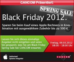 Black Friday Spring Sale mit guten Rabatten bei Cancom am 09.03.12