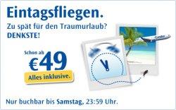 Fliegenpreise bei Condor -100000 Flüge reduziert – nur bis Samstag 23.59 Uhr – ab 49 € fliegen