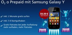 Knaller: Samsung Galaxy Y für nur 63,94€ inkl. Versandkosten bei o2