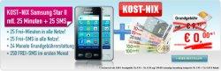 KOST-NIX Samsung Star II gratis durch Grundgebührerstattung mit Vodafone bzw. T-Mobile
