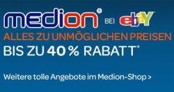 @eBay.de: 40% Rabatt auf ausgewählte Medion-Produkte
