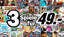 Neuer Media-Markt-Prospekt: z.B. 3 Spiele für 49 € oder Konsolenbundles oder DVDs ab 4,90 € etc.